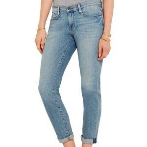FRAME Le Garçon Mid-Rise Slim Boyfriend Jeans